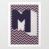 M. Art Print