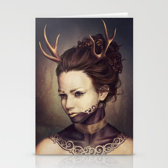 Portrait of a Deer Stationery Card