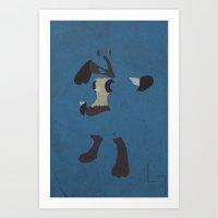 Lucario Art Print