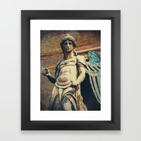 Estatua de San Miguel Framed Art Print
