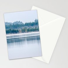 Morning begins with mist Stationery Cards