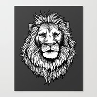 Lion (on dark) Canvas Print