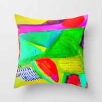 Marina I - Abstract Painting Throw Pillow
