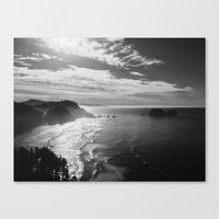 Cape Lookout - Black & White Canvas Print
