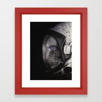 Space Catet Staring Into… Framed Art Print