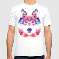 Wolfie Mens Fitted Tee White SMALL