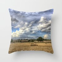 Dramatic Skies Over The … Throw Pillow