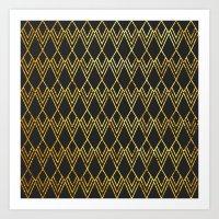 Art Deco Diamond Teardop… Art Print