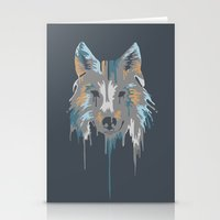 Painted Wolf Stationery Cards