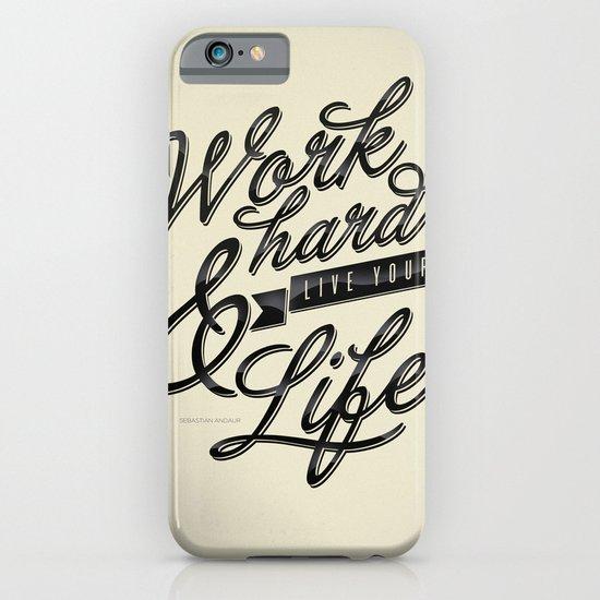 Work Hard iPhone & iPod Case