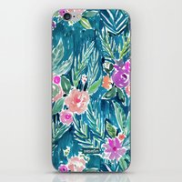 PARADISE FLORAL - NAVY iPhone & iPod Skin