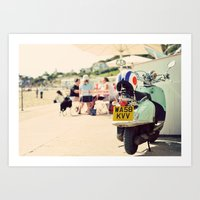 Vintage Vespa ♥ Art Print