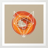 Geometric Fox Art Print