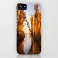 iPhone Cases featuring Golden River by Miles Peterson