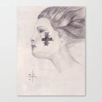 Tear & Cross Canvas Print