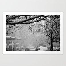 Winter Black and White Art Print