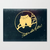 No more bad owl puns Canvas Print