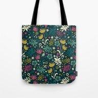 Midnight Florals (pop) Tote Bag