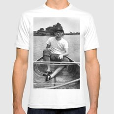 Ronn boating it up. Mens Fitted Tee SMALL White