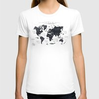 map T-shirts featuring The World Map by Mike Koubou
