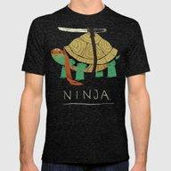Ninja Mens Fitted Tee Tri-Black LARGE