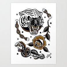 tattoo set Art Print
