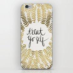 Treat Yo Self – Gold iPhone & iPod Skin