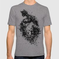 A Dark Cave Mens Fitted Tee Tri-Grey SMALL