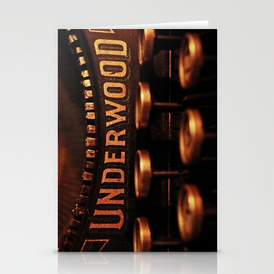 Underwood No. 5 Stationery Card
