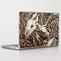 deer Laptop & iPad Skins featuring doe-eyed by Teagan White