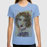 Cecilia and the Centipede Womens Fitted Tee Athletic Blue SMALL
