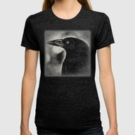 Corvus Coronoides Womens Fitted Tee Tri-Black SMALL