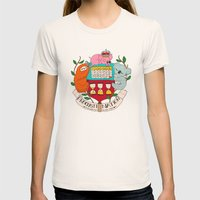 procrasti nation Womens Fitted Tee Natural SMALL