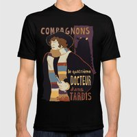 Le Fourth Doctor Mens Fitted Tee Black SMALL