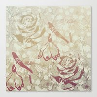 Retro flowers Canvas Print