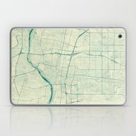 Albuquerque Map Blue Vin… Laptop & iPad Skin