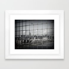 Silver Cage Framed Art Print