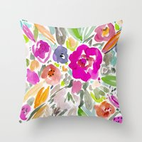 Bravery Floral Throw Pillow