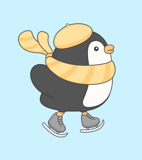 minu, the skating penguin Canvas Print