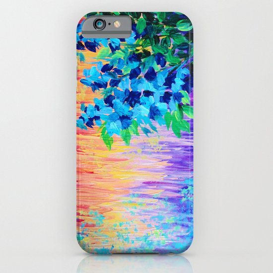 SHADES OF BEAUTIFUL - Stunning Bright BOLD Rainbow Ombre Pattern Blue Floral Hyacinth Nature Autumn iPhone & iPod Case