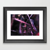 Glitch Space 6 Framed Art Print