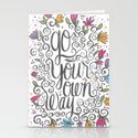GO YOUR OWN WAY Stationery Cards
