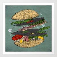 Vinyl Burger Art Print