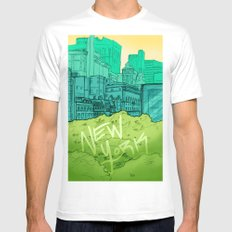 EMPIRE White SMALL Mens Fitted Tee
