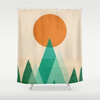 No Mountains High Enough Shower Curtain