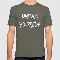 Unfuck Yourself - Invers… Mens Fitted Tee Lieutenant SMALL