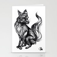Foxy Two Stationery Cards