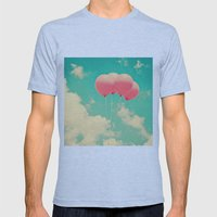Balloons In The Sky (pin… Mens Fitted Tee Athletic Blue SMALL