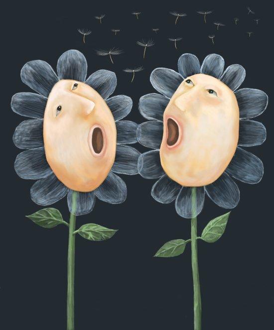 Flower Duet Canvas Print
