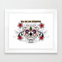 Berto: Dia de los muertos (Day of the dead) Framed Art Print